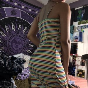 Forever 21 Dresses - Rainbow colored maxi dress!